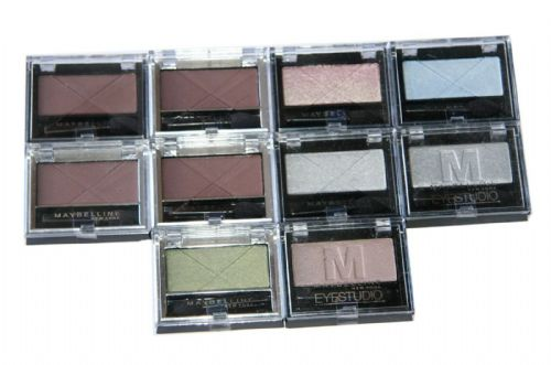 10 x Maybelline New York Eyestudio Mono Eyeshadow | RRP £50 | You get 6 Shades